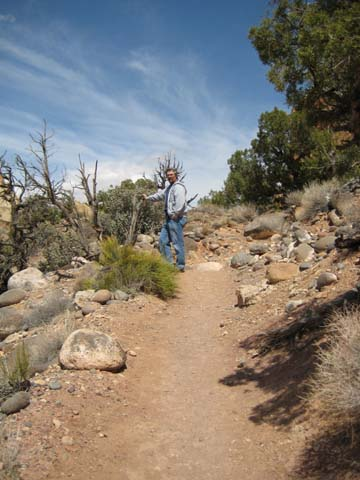 Dan hiking at Capitol Reef
